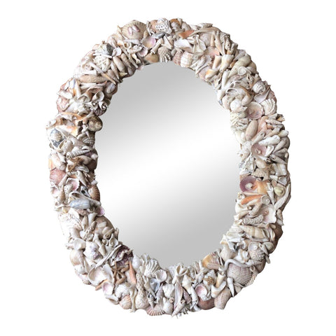 Vintage Shell Encrusted Mirror - FREE SHIPPING!