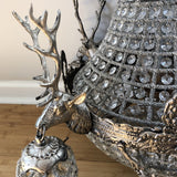 Vintage Warm Silver Stag Chandelier - FREE SHIPPING!
