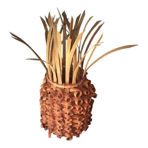 Vintage Handwoven Pineapple Basket Box  FREE SHIPPING!