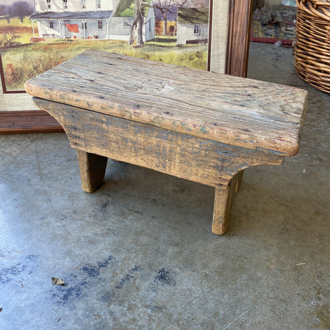 Wooden Antique Stool - FREE SHIPPING!