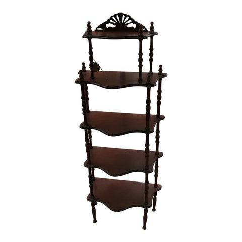 Wooden Asian Display Chinoserie Shelf
