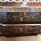 Wooden Inlay Marquetry Petite Console Table With Brass Feet** - FREE SHIPPING!