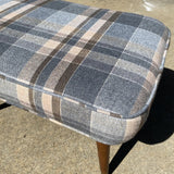 Wool Upholstered Bench With Mid Century Legs - FREE SHIPPING!