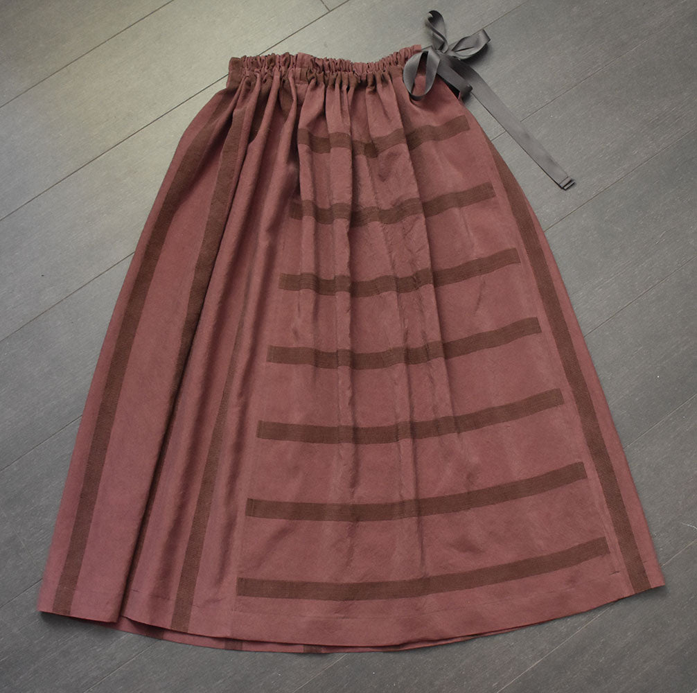 Silk Tafetta Skirt  - Naturally Dyed with Lac