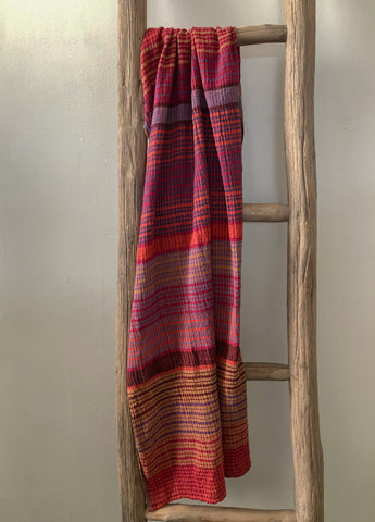 Multi-Coloured Handwoven Cotton Scarf