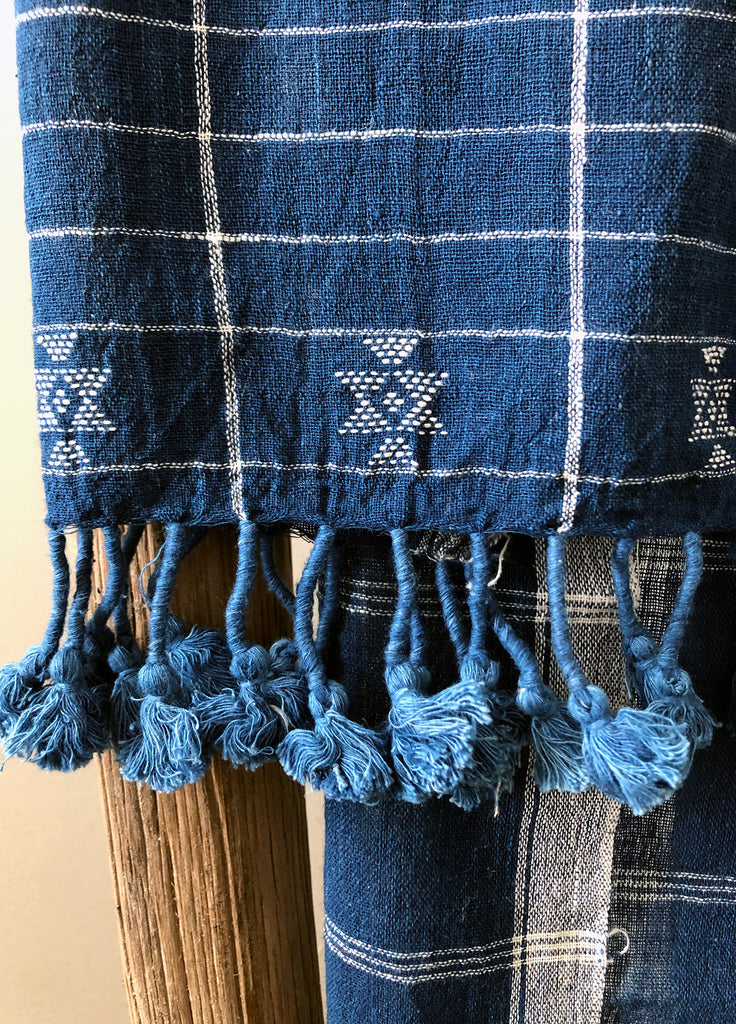 Organic Cotton Scarf - Dyed with Indigo