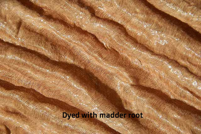 Dyed with madder root.