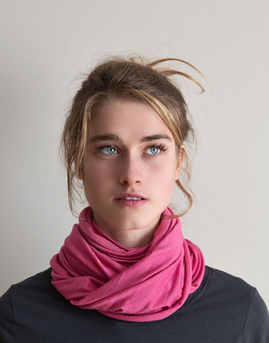 Merino Wool Scarf - Cochineal (Light)