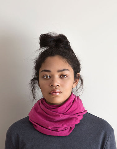Merino Wool Scarf - Cochineal (Dark)