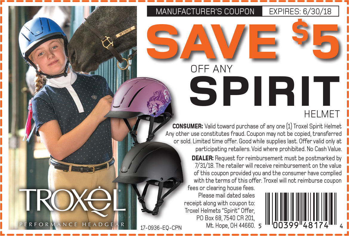 Save 5$ off any Spirit Helmet