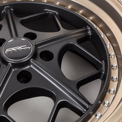 Arc Wheels AR02 Gloss Black with Gold Rivets