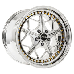 Arc Wheels AR02 Platinum with Gold Rivets