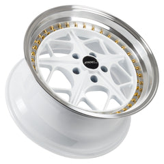Arc Wheels AR02 White with Gold Rivets