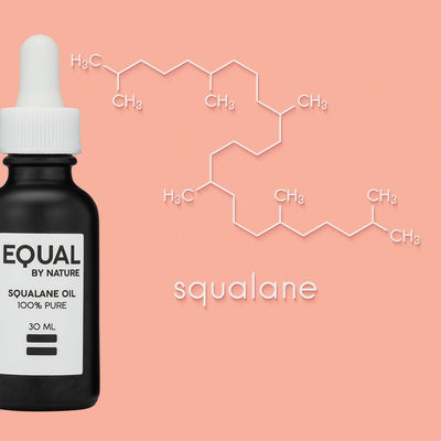 EQUAL BY NATURE Skin Care Vegan Squalane Oil | double-blended & 100% Pure, 1oz
