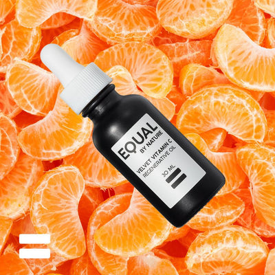 EQUAL BY NATURE Skin Care Velvet Vitamin C Oil | Potent Antioxidant Serum, 1oz