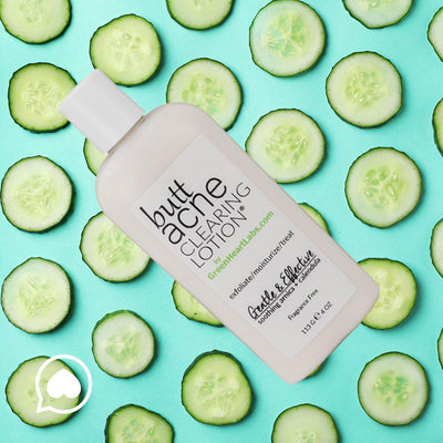 Green Heart Labs Skin Care Brilliant Booty Kit | ExfoliMATE 2.0 + Butt Acne Clearing Lotion