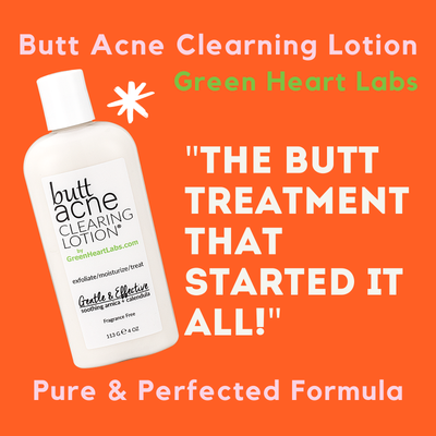 Green Heart Labs Skin Care 8 OZ Butt Acne Clearing Lotion ® | 8 oz.