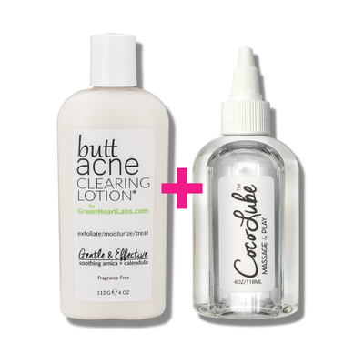 Green Heart Labs Skin Care Hero Duo | Butt Acne Clearing Lotion + CocoLube, 4 oz *LIMITED EDITION*