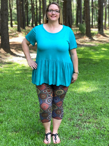 Solid Babydoll Tunic Top