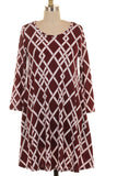 Basketweave Swing Dress