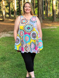 Geo Print Tunic Tank Dress - Sunni Rae's