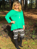 Brushed Snowflake Print Leggings - Sunni Rae's