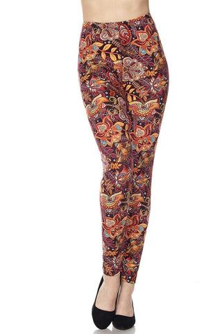 Fall Sunset Print Buttery Soft Leggings