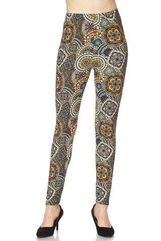 Fall Petals Print Buttery Leggings