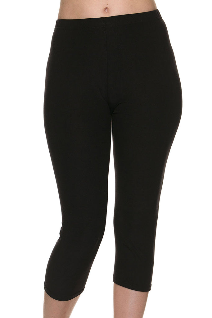 Buttery Soft Brushed Capri Solid Leggings - Sunni Rae's
