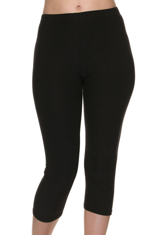 Buttery Soft Brushed Capri Solid Leggings