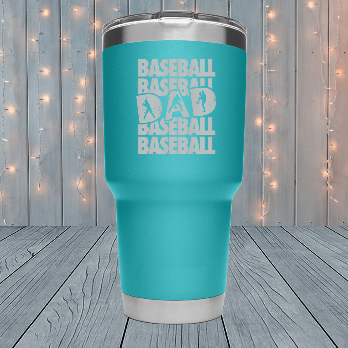 Baseball Dad Laser Engraved Tumblers