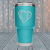 Baseball Heart Rugged Laser Engraved Tumblers