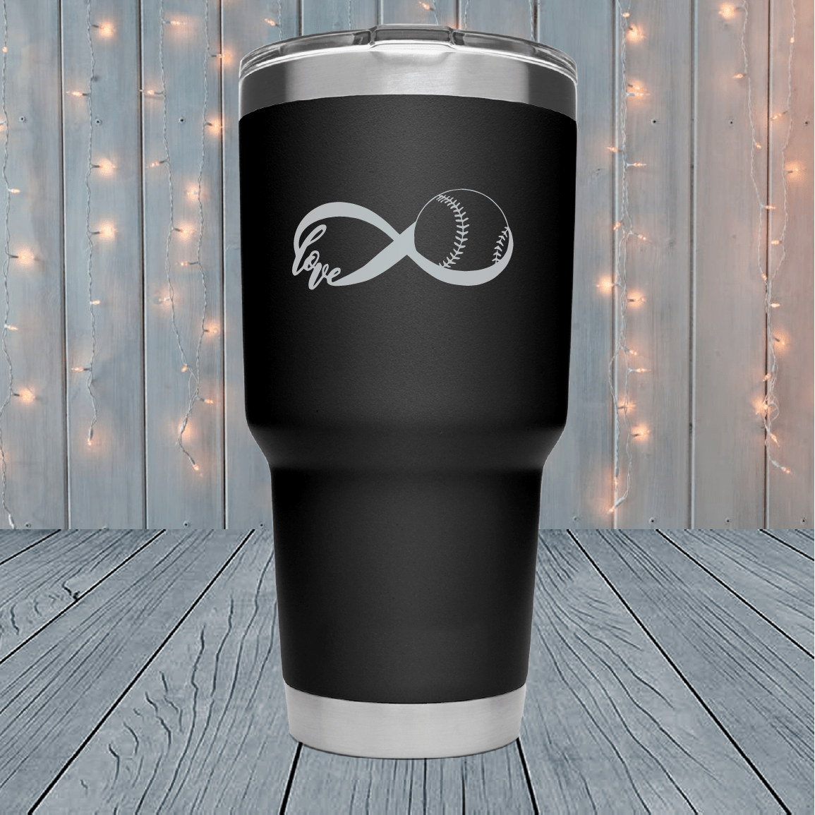Baseball Infinity Laser Engraved Tumblers