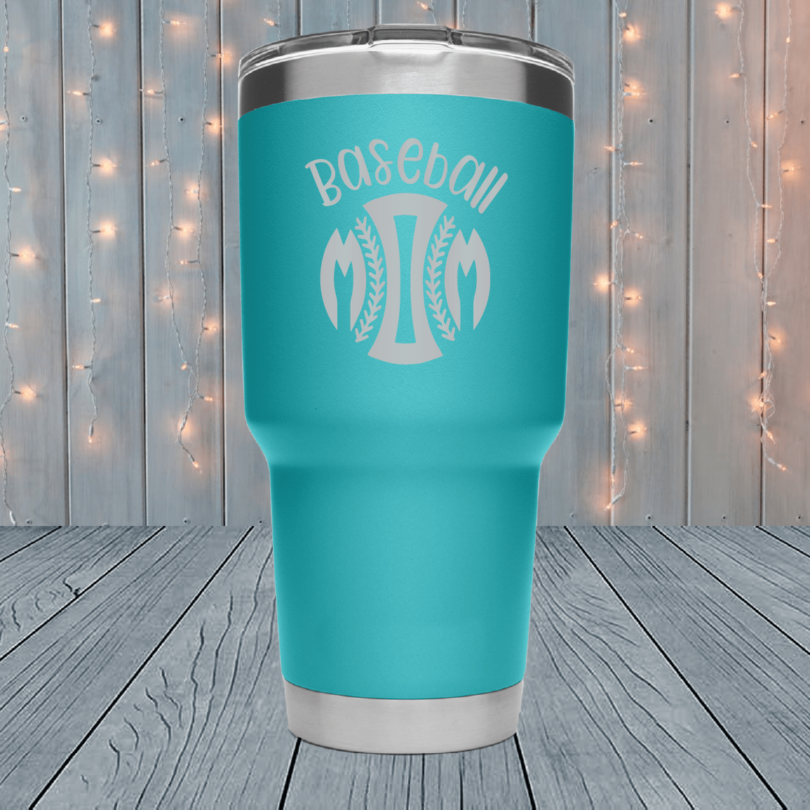 Baseball Mom Ball Laser Engraved Tumblers