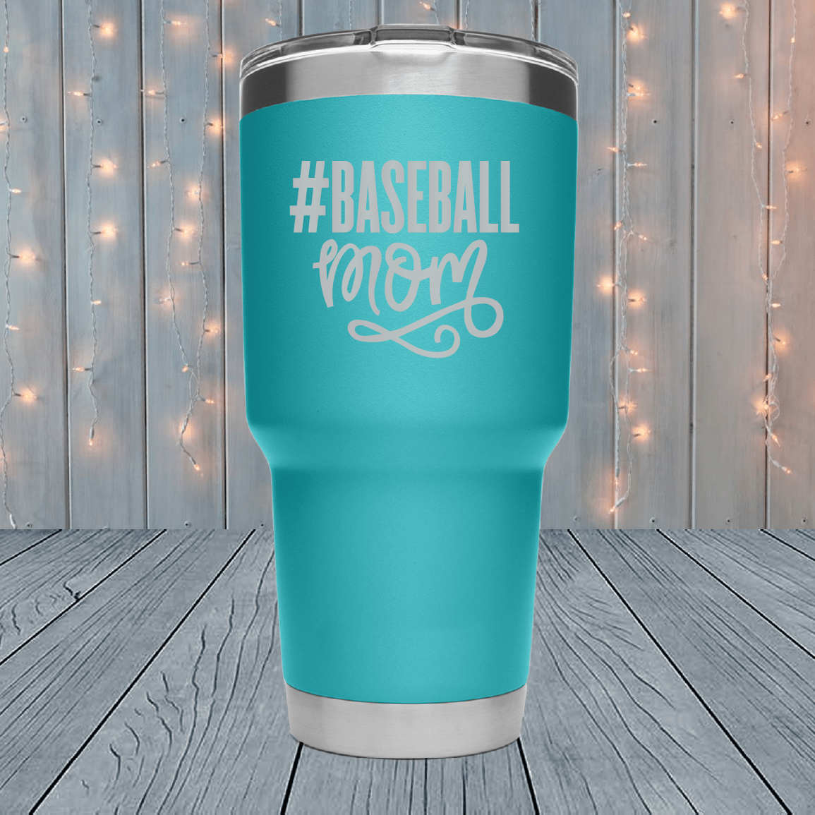 #Baseball Mom Laser Engraved Tumblers