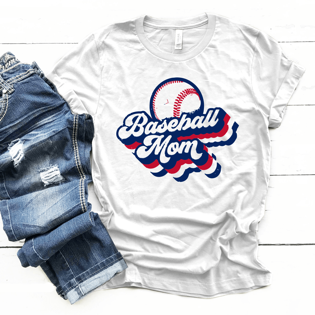 RWB - Baseball Mom Retro - Premium Unisex T-Shirt