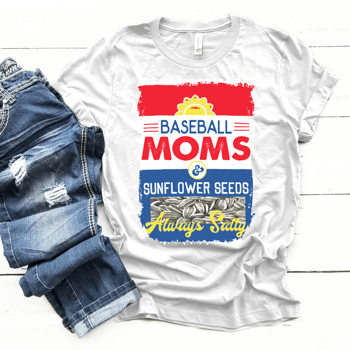 Baseball Moms Sunflower Seeds - Premium Unisex T-Shirt