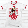 Birthday Boy Premium Christmas Ringer Tee