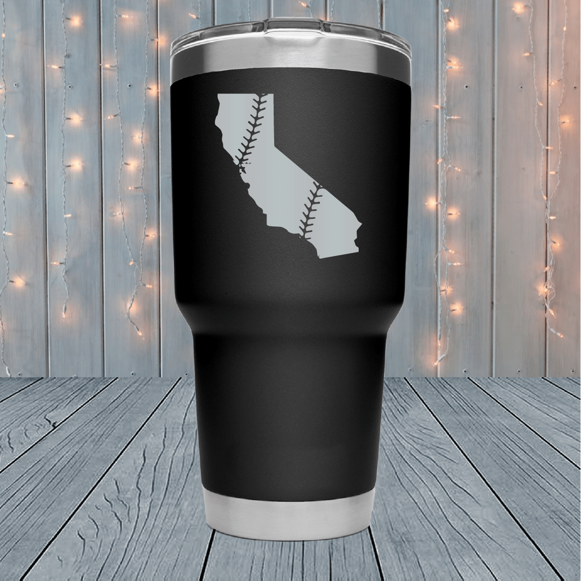 California Baseball Laser Engraved Tumblers