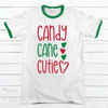 CANDY CANE CUTIE Premium Christmas Ringer Tee