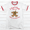 Can't Feel My Face Premium Christmas Ringer Tee