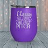 Classy Until The First Pitch Laser Engraved Tumblers