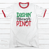 DASHIN THROUGH PINOT Premium Christmas Ringer Tee