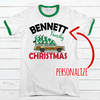 Family Christmas Personalized Premium Christmas Ringer Tee