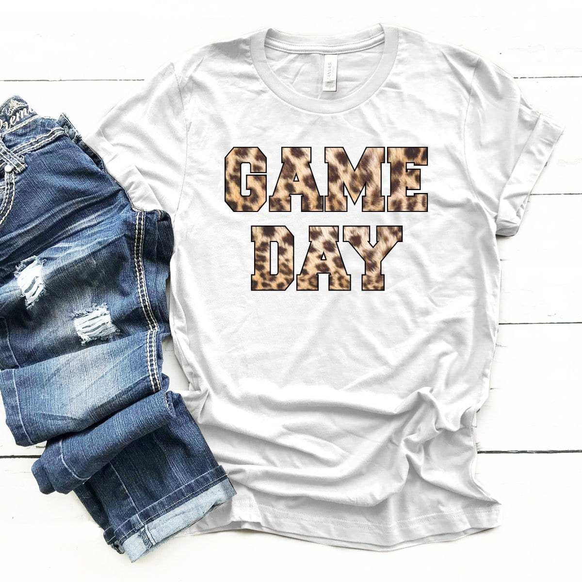 Game Day Leopard - Premium Unisex T-Shirt