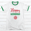 Happy Alcoholidays Premium Christmas Ringer Tee