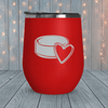 Hockey Puck Heart Laser Engraved Tumblers