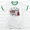 MOST WONDERFUL TIME OF THE YEAR Premium Christmas Ringer Tee