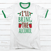 I'll Bring The Alcohol Premium Christmas Ringer Tee
