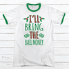 I'll Bring The Bail Money Premium Christmas Ringer Tee